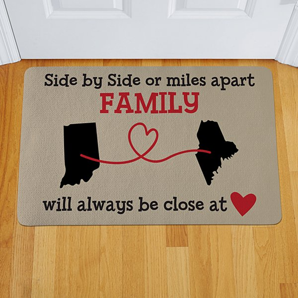 Miles Apart, Close at Heart Doormat