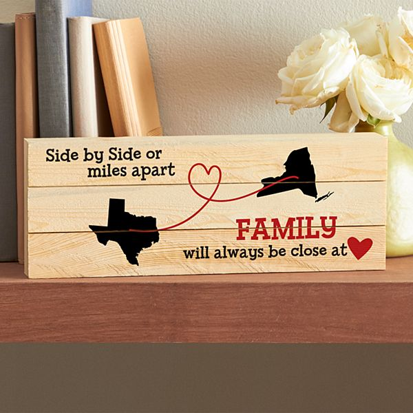 Miles Apart, Close at Heart Mini Wood Pallet