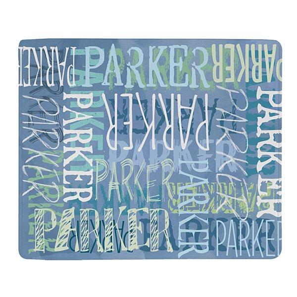 Graffiti Name Plush Blanket - Blue