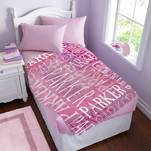 Graffiti Name Plush Blanket