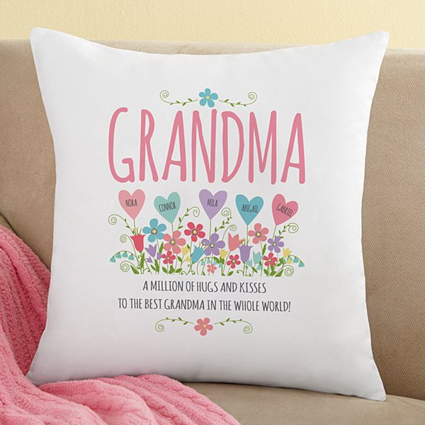 Heart Garden Throw Pillow