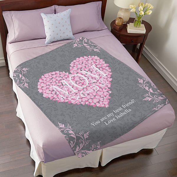Heart Petals Plush Blanket