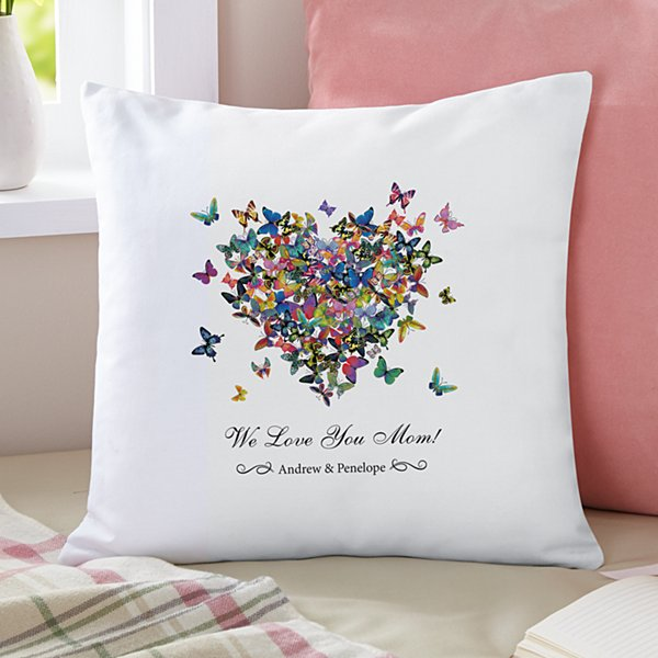 Hearts a Flutter Throw Pillow