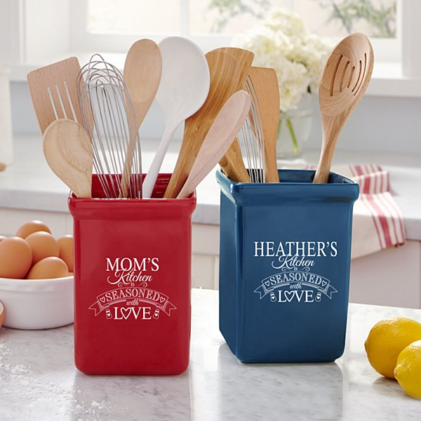 Seasoned With Love Utensil Holder