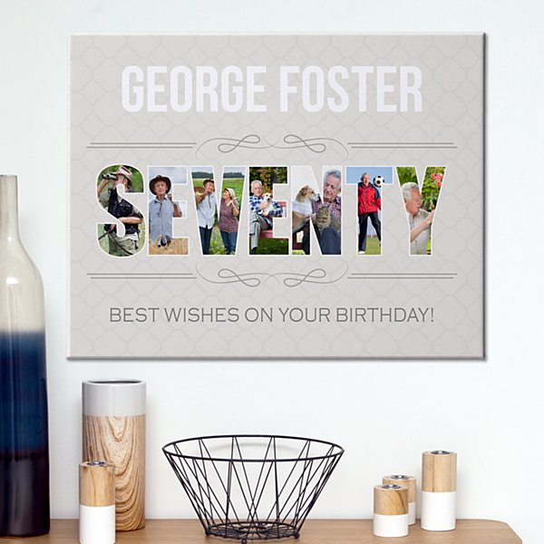 Special Birthday Photo Canvas