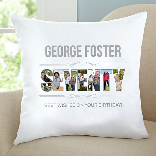 Special Birthday Photo Throw Pillow