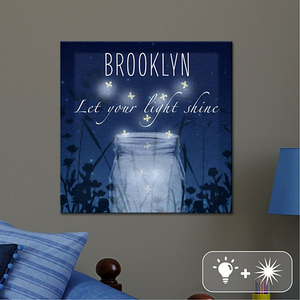 TwinkleBright® LED Let Your Light Shine Canvas