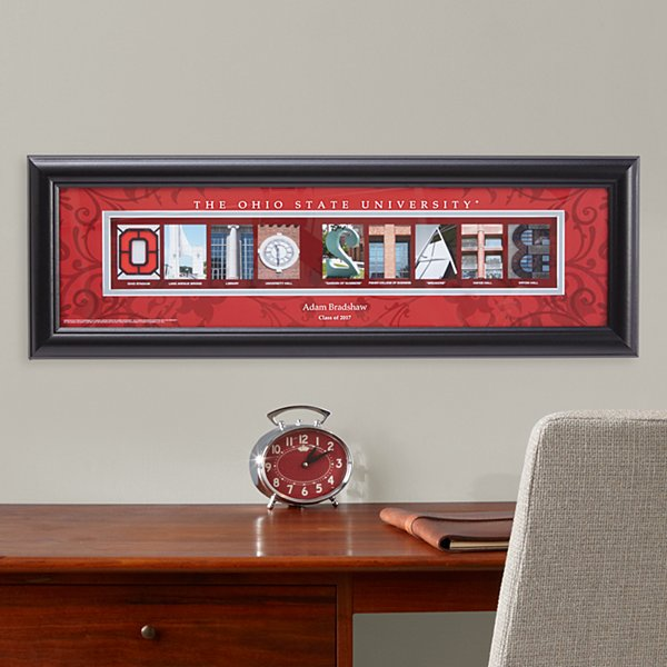 Architectural Campus Letter Framed Print