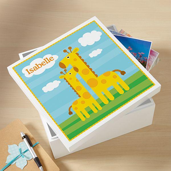 Giraffe Baby Keepsake Box