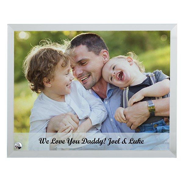 Family Photo Glass Message Frame -Horizontal