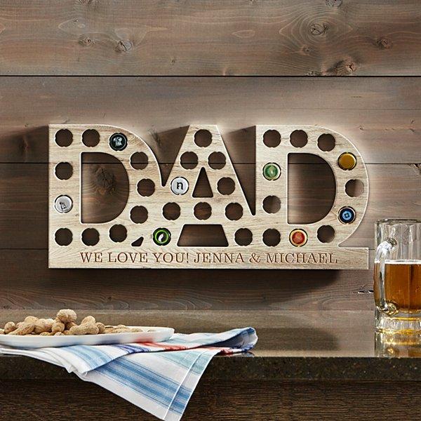 #1 DAD Bottle Cap Wall  Display
