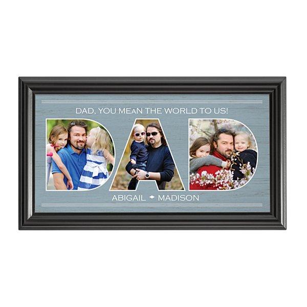 Dad Typography Photo Framed Print-Dad