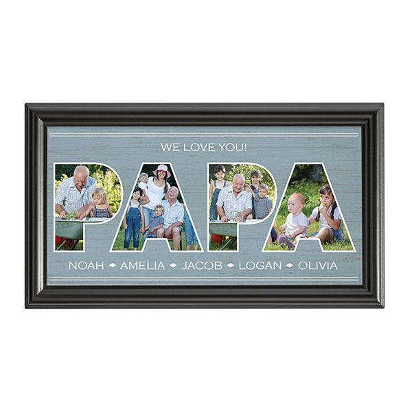 Dad Typography Photo Framed Print-Papa