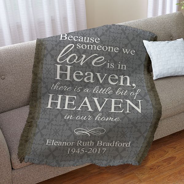 For Loved Ones In Heaven Throw