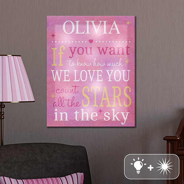 TwinkleBright® LED Count All the Stars Canvas