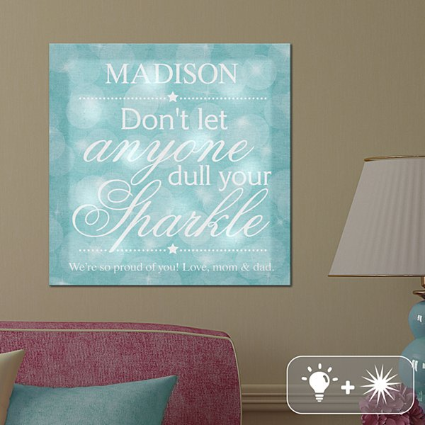 TwinkleBright® LED Keep Your Sparkle Canvas