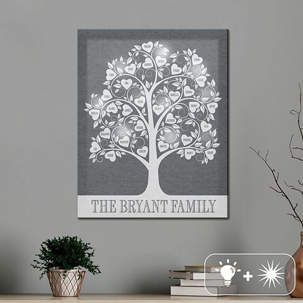 TwinkleBright® LED Hearts Family Tree Canvas