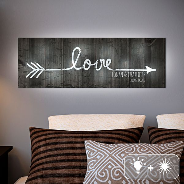 TwinkleBright® LED Love Points to Us Canvas