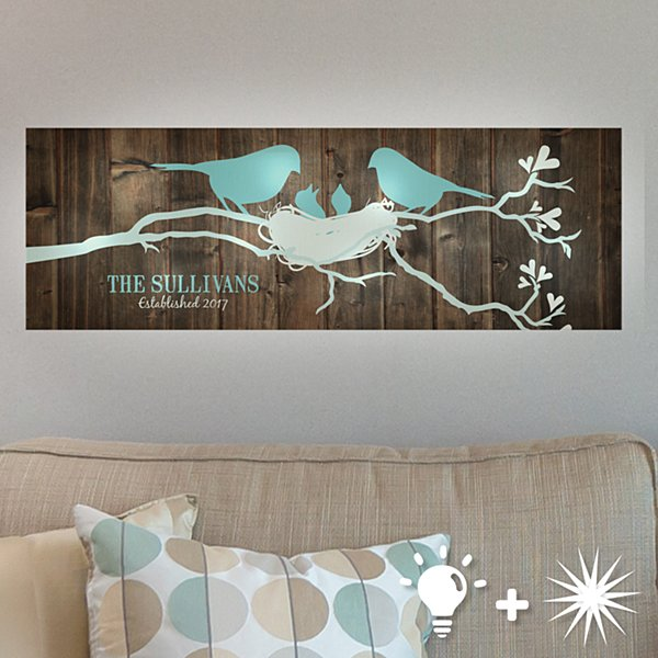 TwinkleBright® LED Our Little Family Canvas