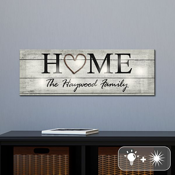 TwinkleBright® LED Rustic Home Canvas