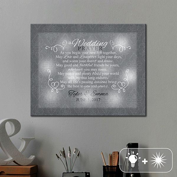 TwinkleBright® LED Wedding Prayer Canvas