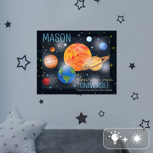 TwinkleBright® LED You Are My Universe Canvas