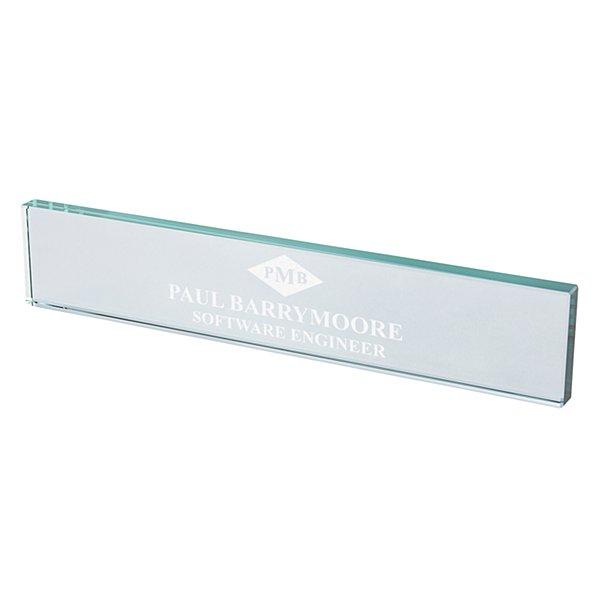 Monogram Beveled Glass Nameplate
