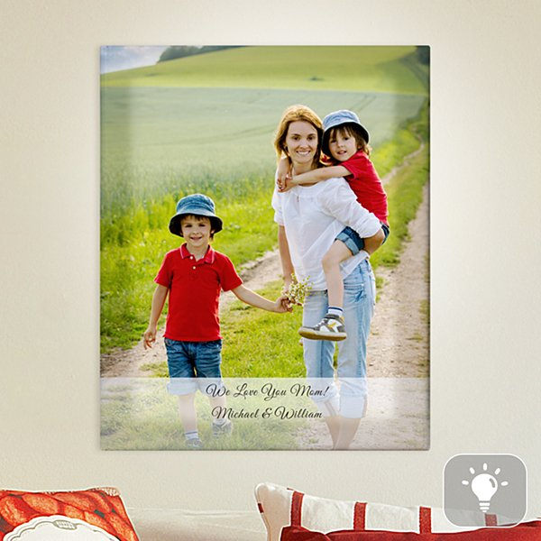 Family Photo Lighted Canvas
