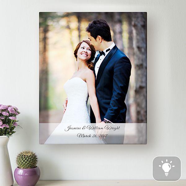 Wedding Photo Lighted Canvas