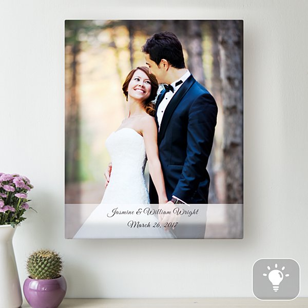 Wedding Photo Lighted Canvas
