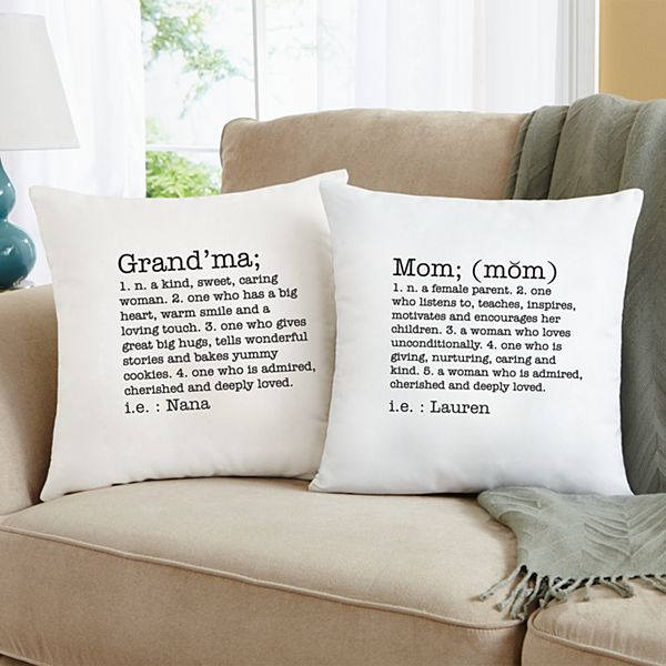 Define Her Throw Pillow