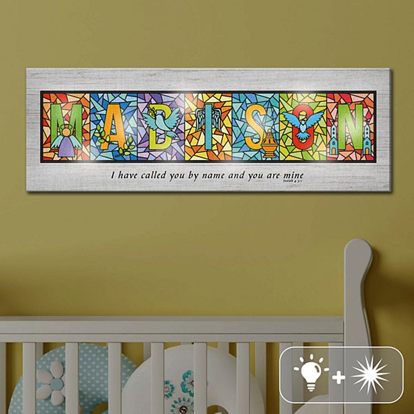 TwinkleBright® LED Call You By Name Alphabet Canvas