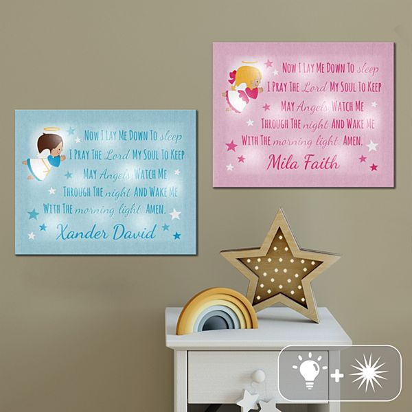TwinkleBright® LED Children's Prayer Canvas