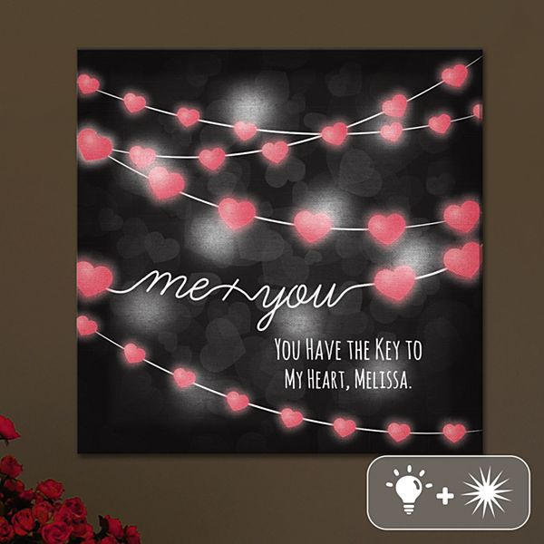 TwinkleBright® LED Me & You Canvas