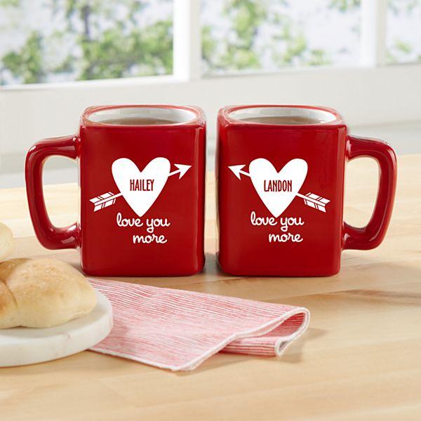Love You More Mug Set