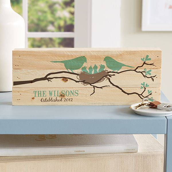 Our Little Bird Family Mini Wood Pallet
