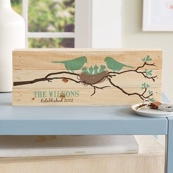 Our Little Bird Family Mini Wood Pallet