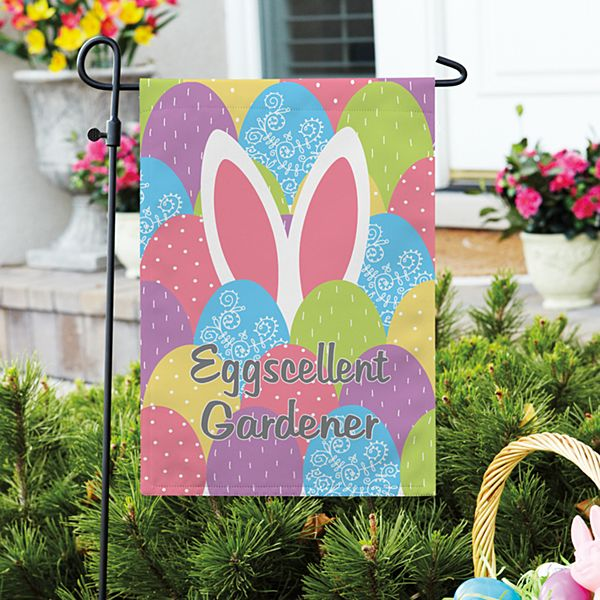 Bunny in Eggs Garden Flag