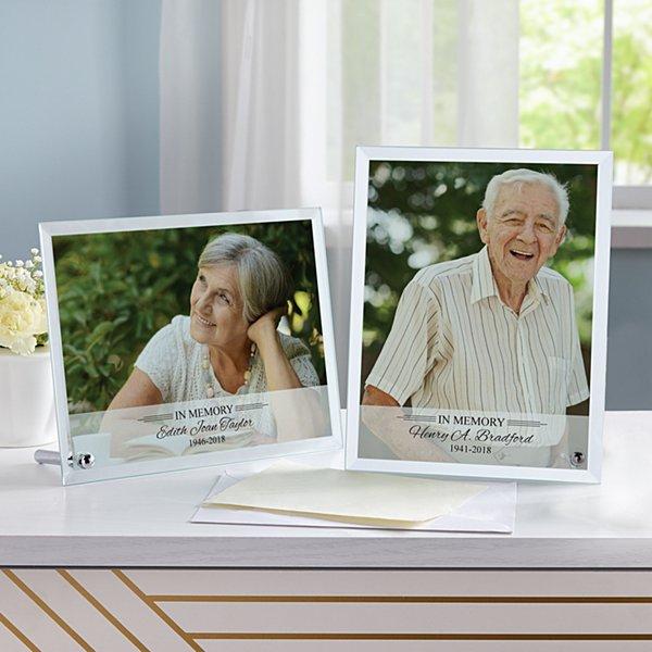 Memorial Glass Photo Frame