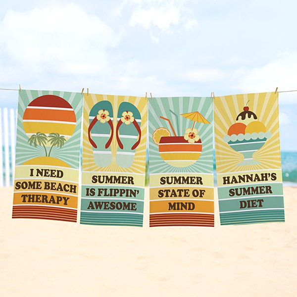 Retro Beach Towel