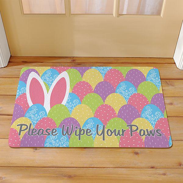 Bunny in Eggs Doormat