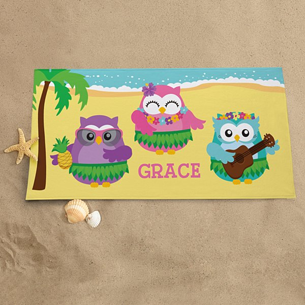 Hula Party Beach Towel