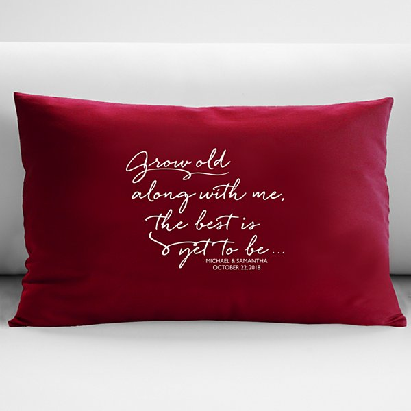 Grow Old With Me Throw Pillow