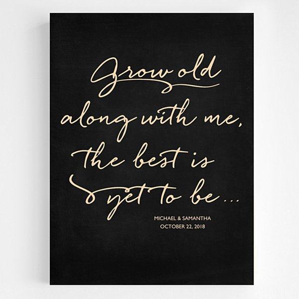 Grow Old With Me Wooden Wall Art