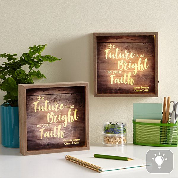 Bright As Your Faith Light Box