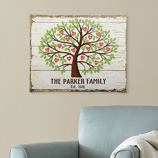 Family Tree of Hearts Canvas