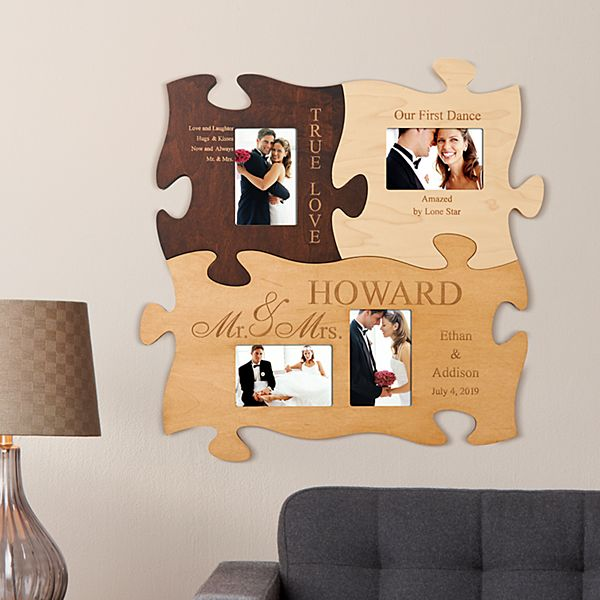 Mr. And Mrs. Wedding Photo Puzzle Frame