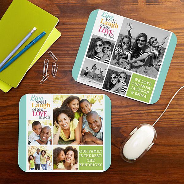 Live Laugh Love Photo Mouse Pad