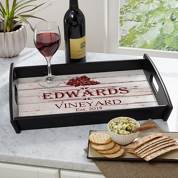 Vineyard Wood Serving Tray