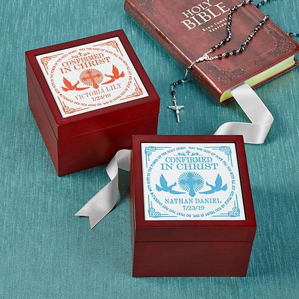 Confirmation Memories Tile Keepsake Box